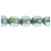 Fire Polished 8mm Turquoise Tri-Cut Strung